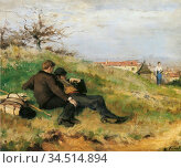 Friant Emile - Le Repos Des Artistes - Finnish School - 19th Century. Редакционное фото, фотограф Artepics / age Fotostock / Фотобанк Лори