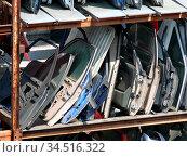 Schrott, metall, auto, autotür, autotüren, eisen, altmetall, schrottplatz... Стоковое фото, фотограф Zoonar.com/Volker Rauch / easy Fotostock / Фотобанк Лори