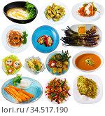 Set of vegetables dishes. Стоковое фото, фотограф Яков Филимонов / Фотобанк Лори