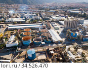 Top view of the chemical plant and the surrounding area. Стоковое фото, фотограф Яков Филимонов / Фотобанк Лори