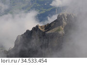 Chaiserstock, kaiserstock, wandern, nebel, wolke, wolken, meteorologie... Стоковое фото, фотограф Zoonar.com/Volker Rauch / easy Fotostock / Фотобанк Лори