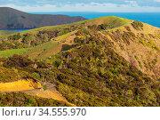 Beautiful landscapes it the Ocean Beach, New Zealand. Inspiring natural... Стоковое фото, фотограф Zoonar.com/Galyna Andrushko / easy Fotostock / Фотобанк Лори