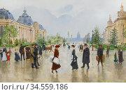 Beraud Jean - Entre Le Petit Et Le Grand Palais Avenue Alexandre ... Редакционное фото, фотограф Artepics / age Fotostock / Фотобанк Лори