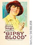 Pola Negri Smokes Cigarette. Стоковое фото, фотограф UNIVERSAL IMAGES GROUP / age Fotostock / Фотобанк Лори