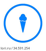 Eis und Kreis - Ice cream and circle. Стоковое фото, фотограф Zoonar.com/Robert Biedermann / easy Fotostock / Фотобанк Лори