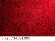 Texture of a dark red carpet. Close-up of gradient light. Стоковое фото, фотограф Zoonar.com/Ian Iankovskii / easy Fotostock / Фотобанк Лори