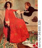 Armfield Maxwell - Faustine - British School - 19th Century. Стоковое фото, фотограф Artepics / age Fotostock / Фотобанк Лори