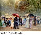 Barton Rose Maynard - Hyde Park in May - British School - 19th Century... Стоковое фото, фотограф Artepics / age Fotostock / Фотобанк Лори