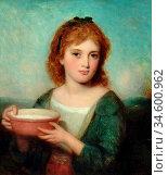 Baxter Charles - Fresh Milk - British School - 19th Century. Стоковое фото, фотограф Artepics / age Fotostock / Фотобанк Лори