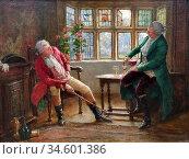 Bennett Frank Moss - the Morning Call - British School - 19th Century. Стоковое фото, фотограф Artepics / age Fotostock / Фотобанк Лори