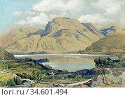 Birch Samuel John Lamorna - Ben Nevis from near Corpach near Fort... Стоковое фото, фотограф Artepics / age Fotostock / Фотобанк Лори