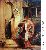 Bonington Richard Parkes - Anne Page and Slender - the Merry Wives... Стоковое фото, фотограф Artepics / age Fotostock / Фотобанк Лори