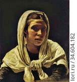 Bramley Frank - Portrait of a Young Breton Woman - British School... Стоковое фото, фотограф Artepics / age Fotostock / Фотобанк Лори