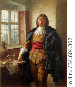 Breakspeare William Arthur - a Gentleman by a Window - British School... Стоковое фото, фотограф Artepics / age Fotostock / Фотобанк Лори