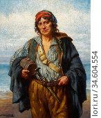 Breakspeare William Arthur - the Fisherman - British School - 19th... Стоковое фото, фотограф Artepics / age Fotostock / Фотобанк Лори