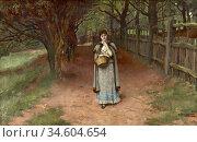 Breakspeare William Arthur - the Tryst - British School - 19th Century... Стоковое фото, фотограф Artepics / age Fotostock / Фотобанк Лори