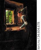 Breakspeare William Arthur - Title Unknown - British School - 19th... Стоковое фото, фотограф Artepics / age Fotostock / Фотобанк Лори