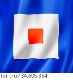 Whiskey international maritime signal flag. Nautical letters symbol... Стоковое фото, фотограф Zoonar.com/Laurent Davoust / age Fotostock / Фотобанк Лори