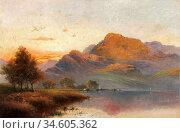 Breanski II Alfred De - Ben Nevis at Sunset - British School - 19th... Стоковое фото, фотограф Artepics / age Fotostock / Фотобанк Лори