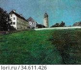 Trubner Wilhelm - Frauenchiemsee - German School - 19th and Early... Редакционное фото, фотограф Artepics / age Fotostock / Фотобанк Лори