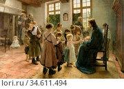 Uhde Fritz Von - Suffer Little Children to Come Unto Me - German ... Редакционное фото, фотограф Artepics / age Fotostock / Фотобанк Лори