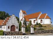 Kirche von Lindelse, Insel Langeland, Dänemark, Europa   Lindelse... Стоковое фото, фотограф Peter Schickert / age Fotostock / Фотобанк Лори