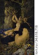 The daughters of El Cid. By Ignacio Pinazo Camarlench, 1879. Diputacion... Стоковое фото, фотограф Juan García Aunión / age Fotostock / Фотобанк Лори