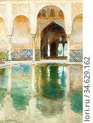 Apperley George Owen Wynne - the Alhambra 2 - British School - 19th... Стоковое фото, фотограф Artepics / age Fotostock / Фотобанк Лори