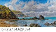 Brett John - Forest Creek Newport Sandbanks Pembrokeshire 2 - British... Стоковое фото, фотограф Artepics / age Fotostock / Фотобанк Лори