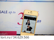 Tommy Hilfiger Website and IPhone. Стоковое фото, фотограф Newscast / age Fotostock / Фотобанк Лори