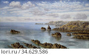 Brett John - Southern Coast of Guernsey - British School - 19th Century... Стоковое фото, фотограф Artepics / age Fotostock / Фотобанк Лори