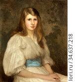 Clausen George - Margaret Hilton Smith Aged 15 - British School - ... Стоковое фото, фотограф Artepics / age Fotostock / Фотобанк Лори