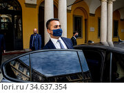 Italian Minister Luigi Di Maio arrives for the meeting in the Prefecture... Редакционное фото, фотограф Claudia Greco / AGF/Claudia Greco / AGF / age Fotostock / Фотобанк Лори