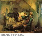 Faed Thomas - Worn out - British School - 19th Century. Стоковое фото, фотограф Artepics / age Fotostock / Фотобанк Лори