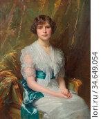 Fildes Sir Samuel Luke - Winifred Ellerman - British School - 19th... Стоковое фото, фотограф Artepics / age Fotostock / Фотобанк Лори