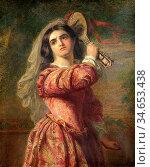 Frith William Powell - Katharina - British School - 19th Century. Стоковое фото, фотограф Artepics / age Fotostock / Фотобанк Лори