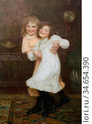 Gore William Henry - Ticklish - British School - 19th Century. Стоковое фото, фотограф Artepics / age Fotostock / Фотобанк Лори