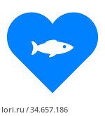 Fisch und Herz - Fish and heart. Стоковое фото, фотограф Zoonar.com/Robert Biedermann / easy Fotostock / Фотобанк Лори