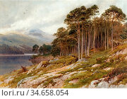 Palmer Harry Sutton - Highland Scene - British School - 19th Century. Редакционное фото, фотограф Artepics / age Fotostock / Фотобанк Лори