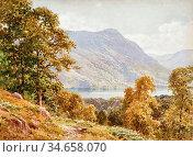 Palmer Harry Sutton - Ullswater 1 - British School - 19th Century. Редакционное фото, фотограф Artepics / age Fotostock / Фотобанк Лори