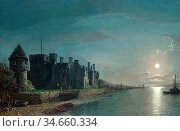 Pether Henry - Newark Castle Port Glasgow Mouth of the Clyde - British... Редакционное фото, фотограф Artepics / age Fotostock / Фотобанк Лори