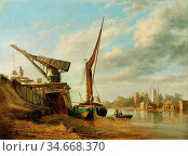 Stanley Caleb Robert - the River Thames with Lambeth Palace - British... Редакционное фото, фотограф Artepics / age Fotostock / Фотобанк Лори