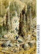 Doré Gustave - Mountainous Landscape near Montreux Switzerland - ... Редакционное фото, фотограф Artepics / age Fotostock / Фотобанк Лори