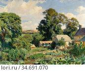 Watson George Spencer - the Cottage Garden - British School - 19th... Стоковое фото, фотограф Artepics / age Fotostock / Фотобанк Лори