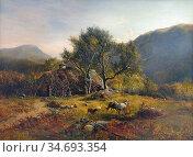 Williams Alfred Walter - Gathering Ferns Snowdonia - British School... Редакционное фото, фотограф Artepics / age Fotostock / Фотобанк Лори