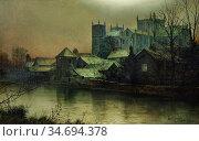 Grimshaw Louis - Ripon Minster Beside the River Swale - British School... Редакционное фото, фотограф Artepics / age Fotostock / Фотобанк Лори