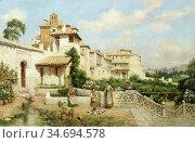 Haddon Arthur Trevor - View of a Villa in Toledo Spain - British ... Редакционное фото, фотограф Artepics / age Fotostock / Фотобанк Лори