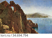 Haseltine William Stanley - Natural Arch at Capri 1 - British School... Редакционное фото, фотограф Artepics / age Fotostock / Фотобанк Лори