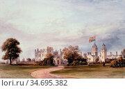 Hering George Edwards - Drayton Manor - British School - 19th Century. Редакционное фото, фотограф Artepics / age Fotostock / Фотобанк Лори