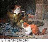 Huber Léon Charles - the Copper Cauldron - French School - 19th Century... (2020 год). Редакционное фото, фотограф Artepics / age Fotostock / Фотобанк Лори